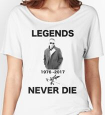 CHESTER RIP TRIBUTE LEGENDS NEVER DIE Women's Relaxed Fit T-Shirt