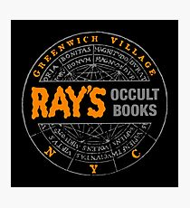 Ghostbusters - Rays Occult Books Photographic Print