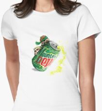 Snake & Miller on a... mountain dew. Women's Fitted T-Shirt