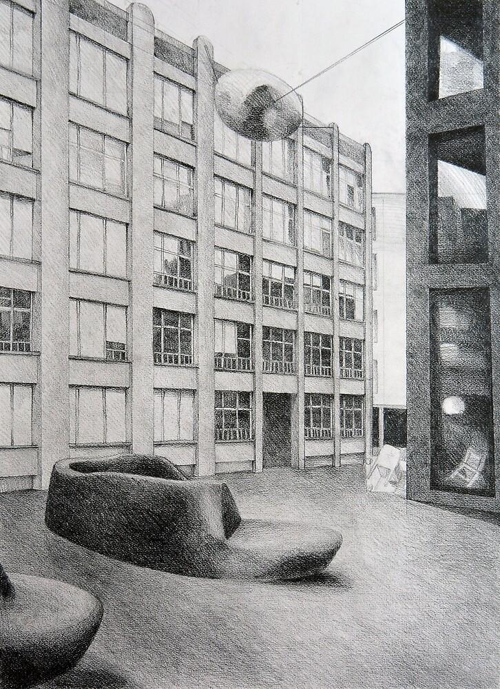 Urban Living Room, 2011, 50-70cm, grafit on paper by oanaunciuleanu