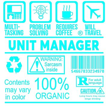 UNIT MANAGER - NICE DESIGN 2017 by Stevenmakis