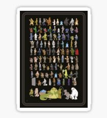 Vintage Star Wars Action Figure Card Back Characters Sticker