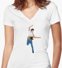 Bruce - Born  #2 Women's Fitted V-Neck T-Shirt