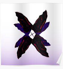 Luxury leaves 3d Flower Black Poster