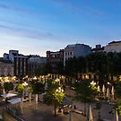 The Morning After - Empty Plaza de Santa Ana at Dawn by Georgia Mizuleva