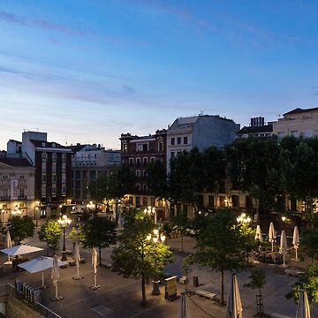 The Morning After - Empty Plaza de Santa Ana at Dawn by GeorgiaM