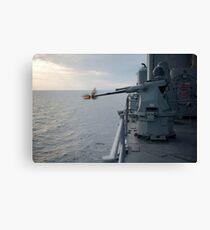 An MK38 MOD 2 25mm machine gun system aboard USS Pearl Harbor. Canvas Print