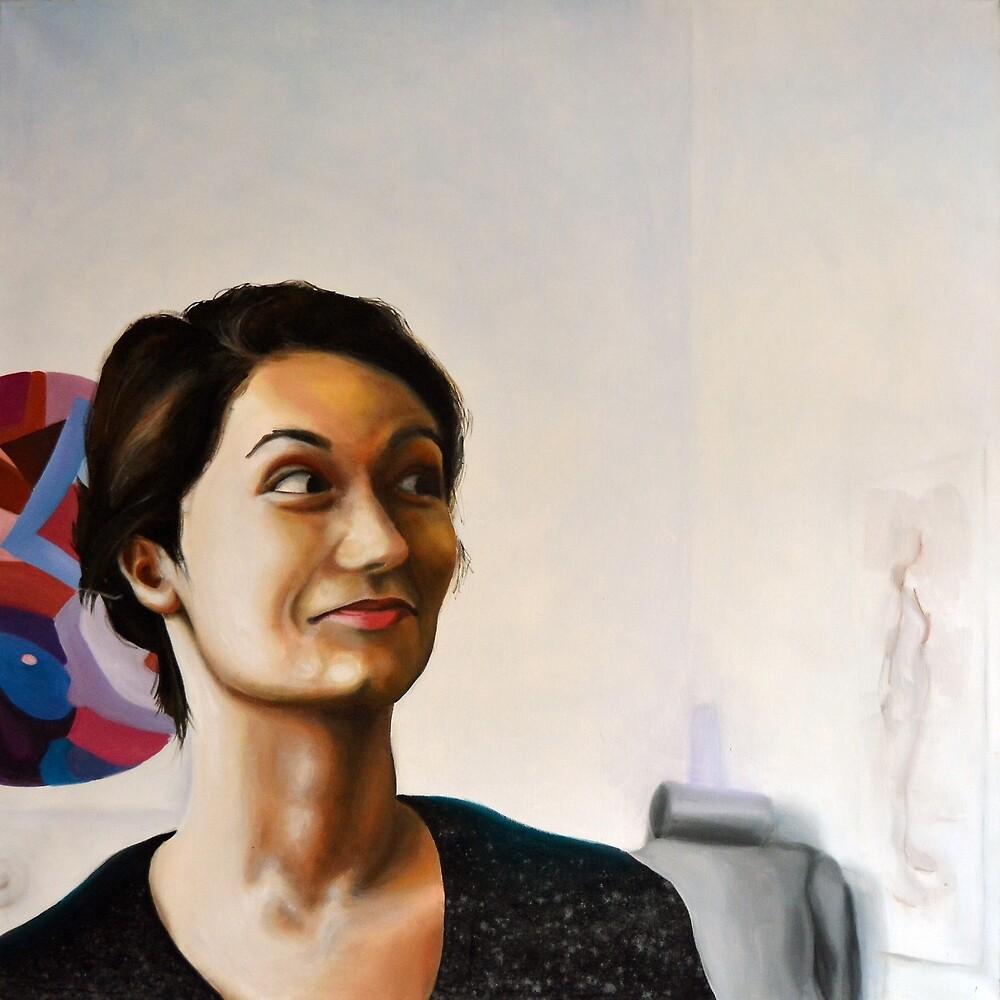 Really, 2011, 100-100cm, oil on canvas by oanaunciuleanu