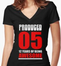 12 Years Old Women's Fitted V-Neck T-Shirt
