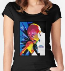 Chester on Lowpolical Scream Women's Fitted Scoop T-Shirt