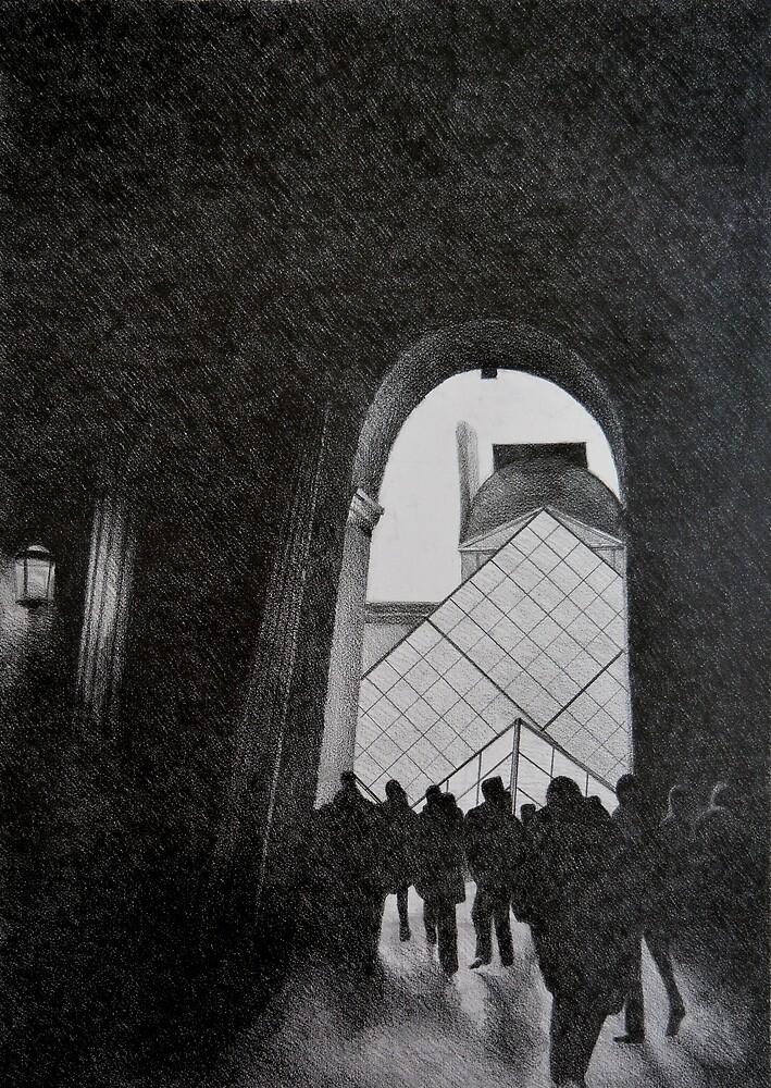 Louvre, 2011, 50-70cm, graphite crayon by oanaunciuleanu