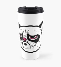 Black and white cat with the hump  Travel Mug