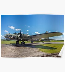 """Boeing B-17G Fortress II G-BEDF """"Sally B"""" Poster"""