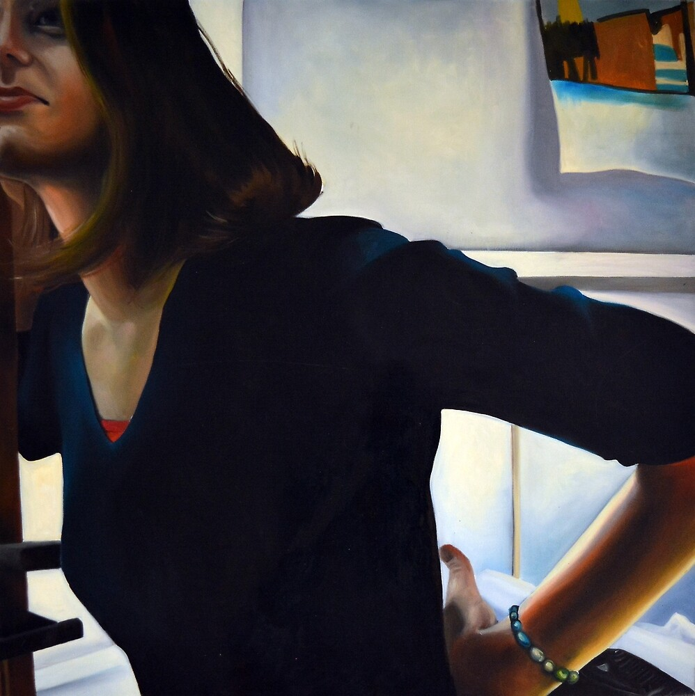 Diagonal, 2011, 100-100cm, oil on canvas by oanaunciuleanu