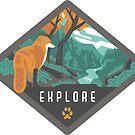 Explore - Fox in the Wilderness by BlueAsterStudio