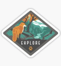 Explore - Fox in the Wilderness Sticker