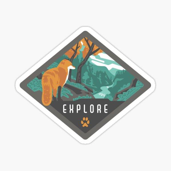 Explore - Fox in the Wilderness Sticker