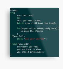 Geek Coder Metal Print
