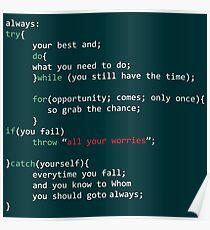 Geek Coder Poster