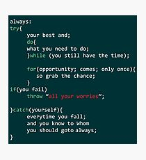 Geek Coder Photographic Print