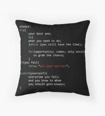 Geek Coder Throw Pillow