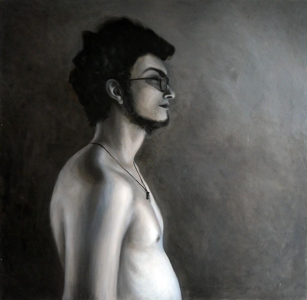 Side face, 2010, 100-100cm, oil on canvas by oanaunciuleanu