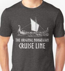 Viking Boat> Original Norwegian Cruise Line> Viking Unisex T-Shirt