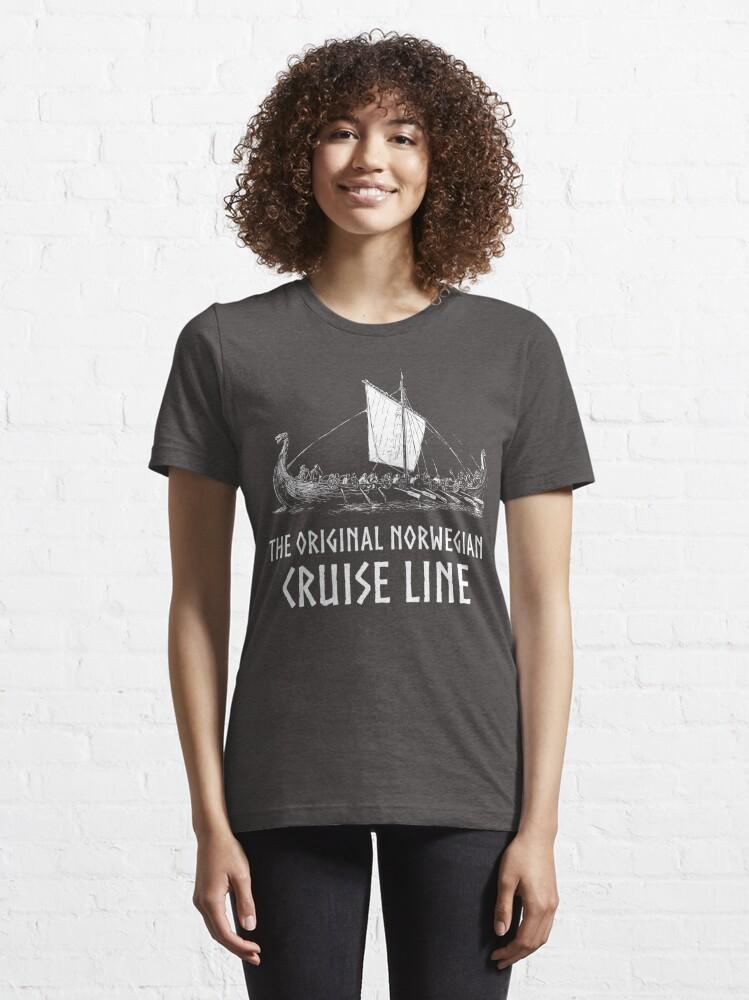 Alternate view of Viking Boat> Original Norwegian Cruise Line> Viking Essential T-Shirt