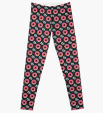Funky Donuts and Coffee Pattern Leggings
