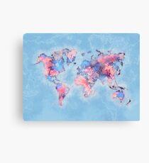 world map 110 #worldmap #world #map Canvas Print