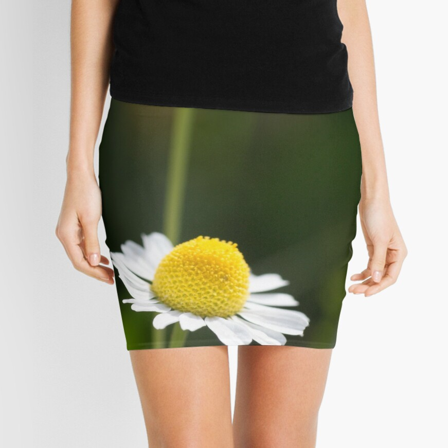 A Pair of daisy flowers Mini Skirt