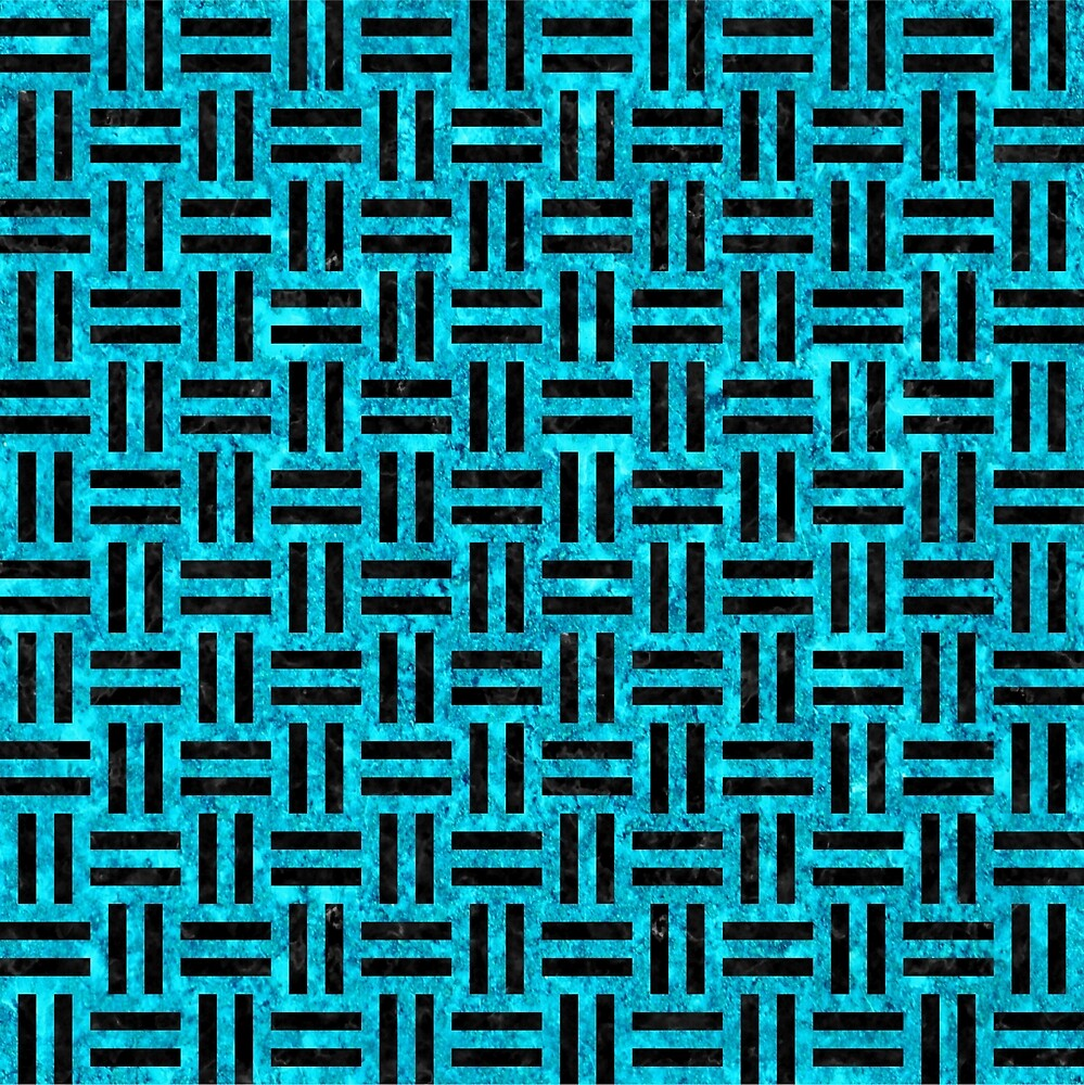 WOVEN1 BLACK MARBLE AND TURQUOISE MARBLE (R) by johnhunternance