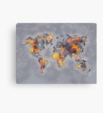 world map 111 #worldmap #world #map Canvas Print