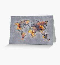 world map 111 #worldmap #world #map Greeting Card