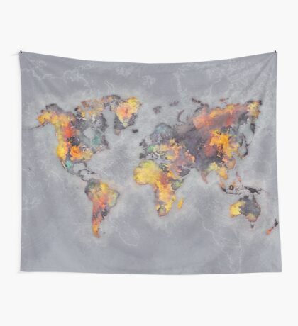 world map 111 #worldmap #world #map Wall Tapestry