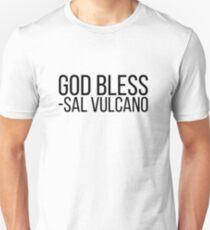 Gott segne - Sal Vulcano (schwarze Schrift) Unisex T-Shirt