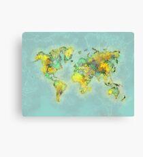 world map 112 #worldmap #world #map Canvas Print