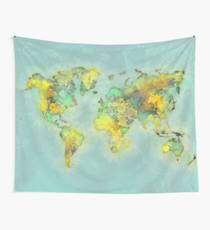 world map 112 #worldmap #world #map Wall Tapestry