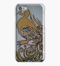 Yellow and Black Peacock Art iPhone Case/Skin