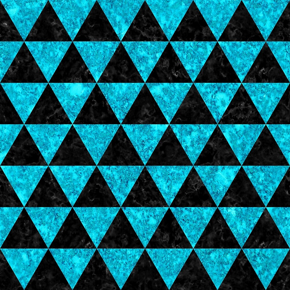 TRIANGLE3 BLACK MARBLE AND TURQUOISE MARBLE by johnhunternance