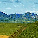 Mountains of Denali National Park Alaska Abstract Impressionism by pjwuebker
