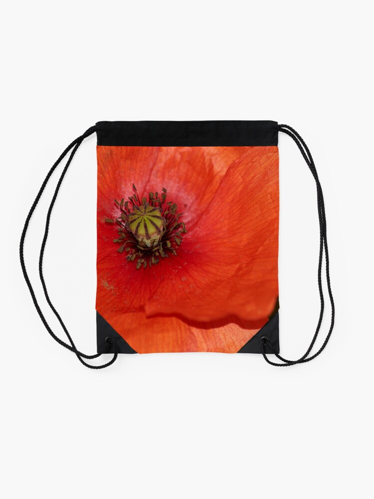 Alternate view of poppy Drawstring Bag