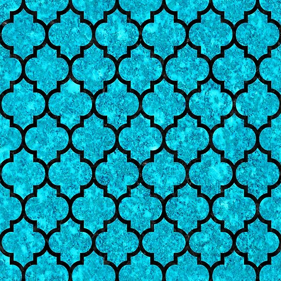 TILE1 BLACK MARBLE AND TURQUOISE MARBLE (R) by johnhunternance
