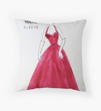 Vogue 1950s Throw Pillow