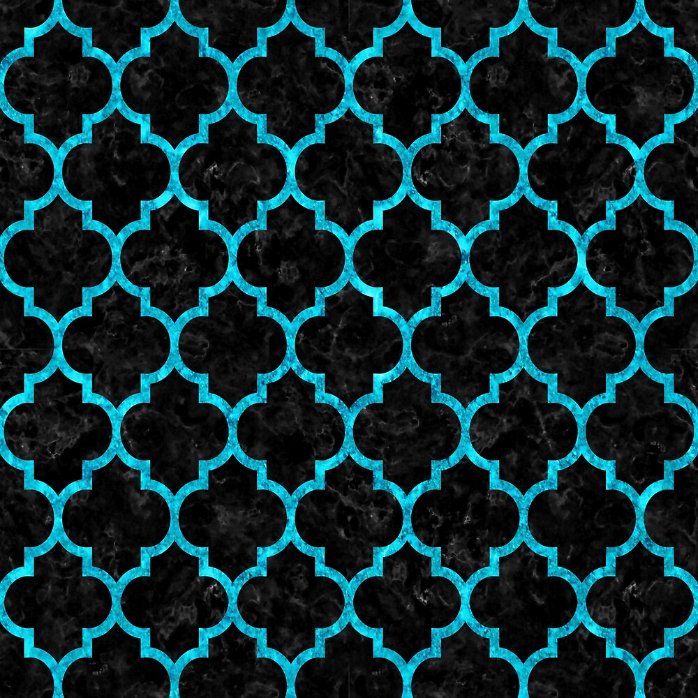TILE1 BLACK MARBLE AND TURQUOISE MARBLE by johnhunternance