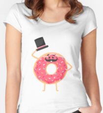 Funny donut Women's Fitted Scoop T-Shirt