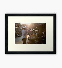 Vietnam street market Framed Print