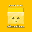 Proud to Be American Kawaii Cheese Slice by GuyMoore
