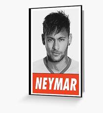 -FOOTBALL- Neymar Greeting Card