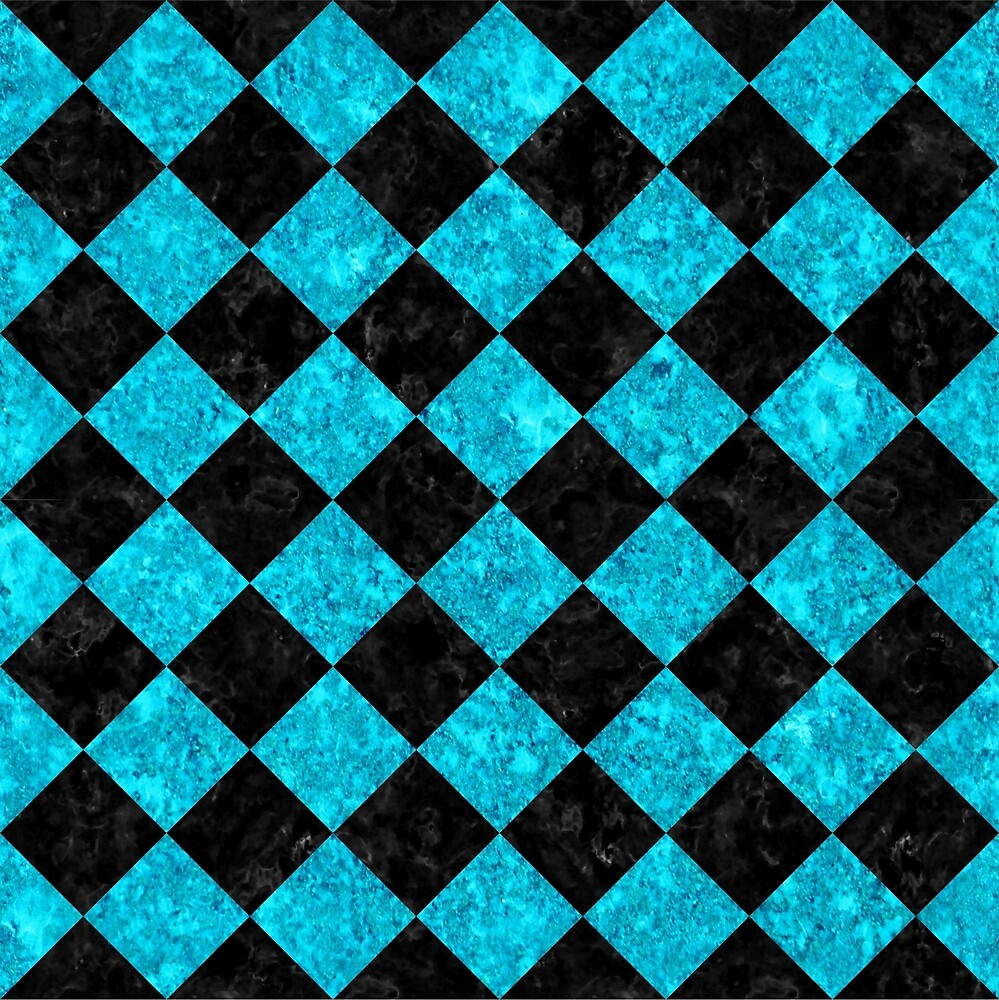 SQUARE2 BLACK MARBLE AND TURQUOISE MARBLE by johnhunternance
